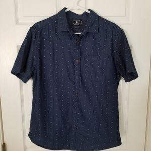 Denim and Flower Button Down Shirt